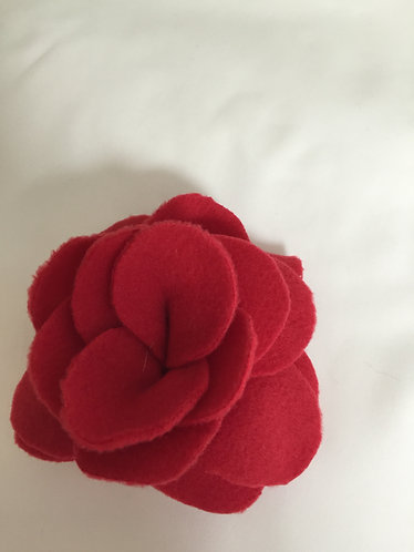 """Fabric Flowers-Red 5"""" Clip-On"""