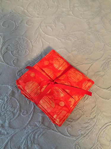Red/Gold Wine Coasters (9)