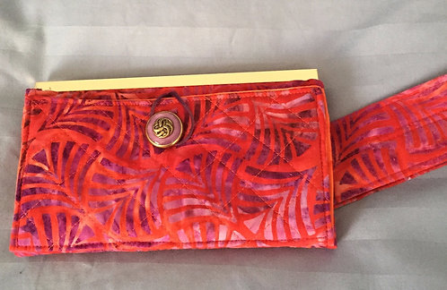 Clutch Wallet, Red/Orange/Purple