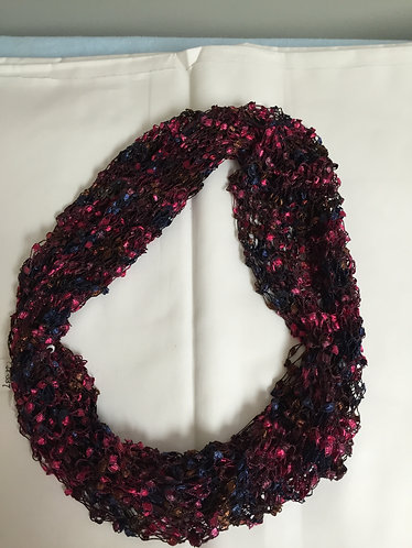 Cowl,  Black, Gold & Red