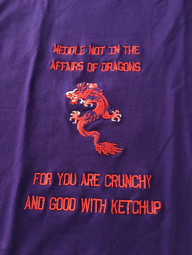 Tee Shirt,Ladies P-SM, Dragon Tee Shirt