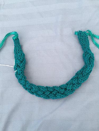 Braided Teal Headband/Choker