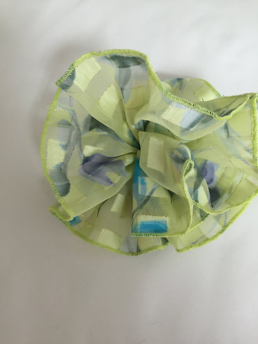 Flower Pin-Lime Chiffon-6""