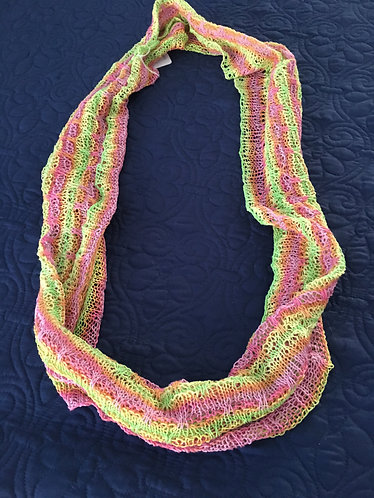 Cowl, Green, Yellow, Tangerine, Orange Pink