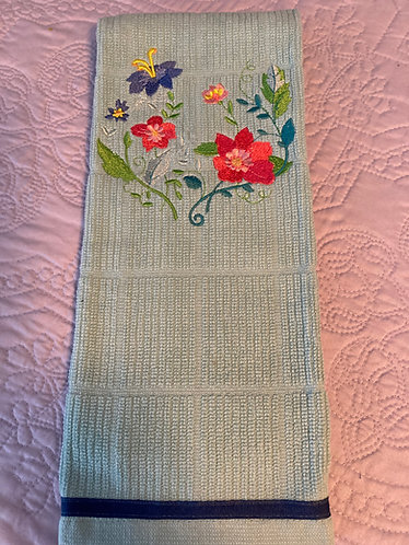 19-180 Kitchen Towel-Graceful Flowers 5