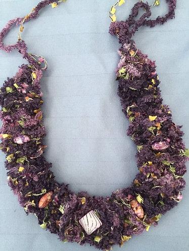 Knit Choker-Jasper Stones