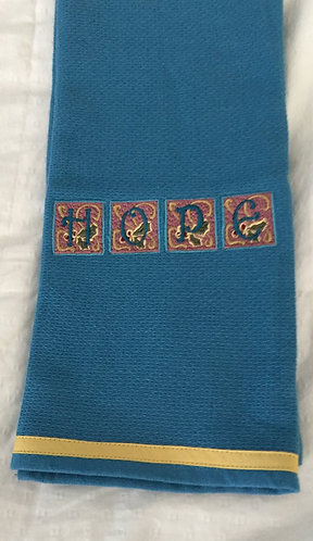 19-148 -Hope Art Deco Towel on French Blue