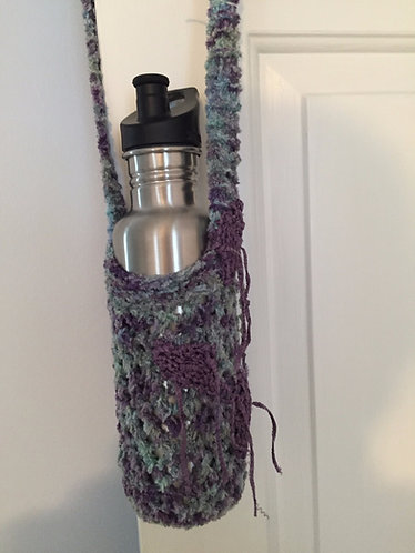 WBT-F Cotton Chenille Water Bottle Tote