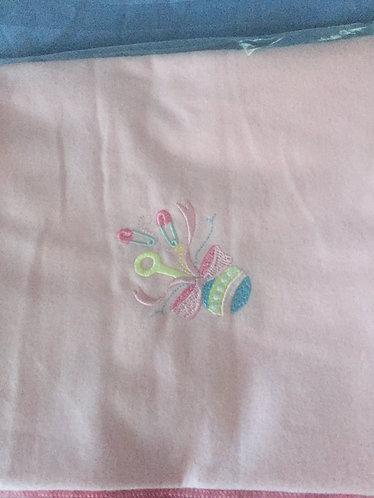 RB-Rattle Pins Receiving Blanket
