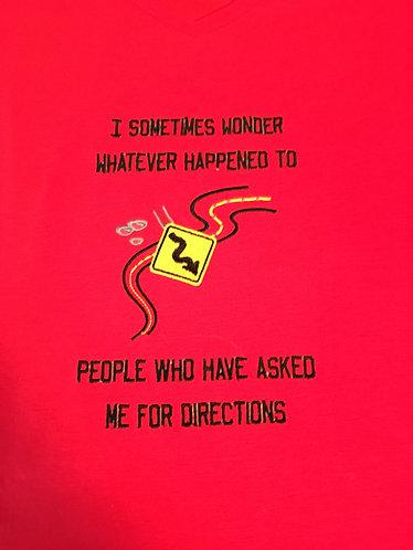 Tee Shirt, Ladies Large, Red