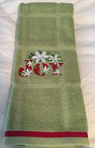 19-152 Festive Floral Joy on Apple Green Calph