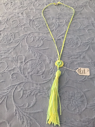 Green/Yellow Tassel Necklace