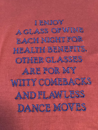 Tee Shirt, Men XL, A Glass of Wine
