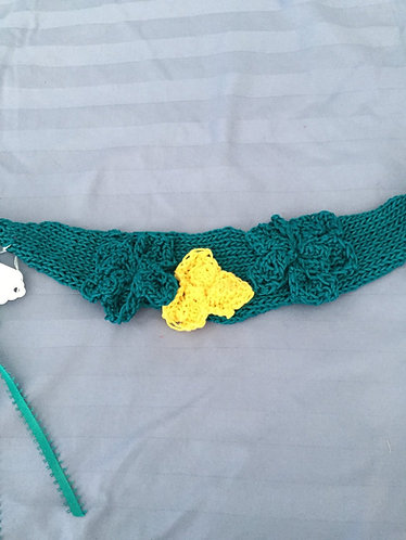Teal Floral Headband/Choker