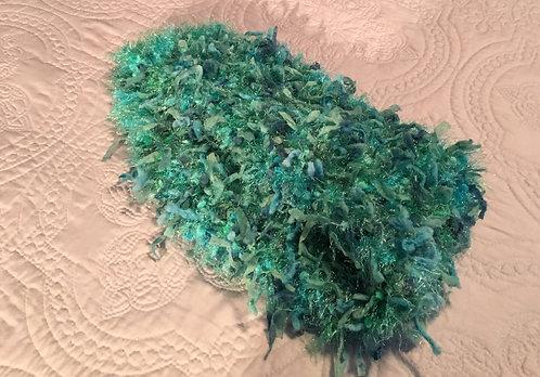 Aqua, Green, Blue Cowl