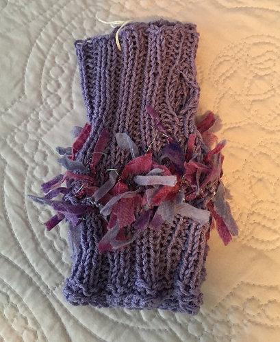 Fingerless Gloves, Violet/