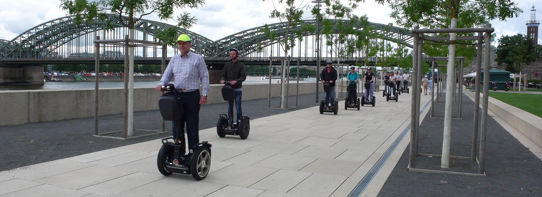 Segway Gruppe in Köln Deutz
