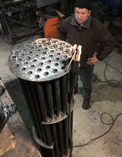 Fuel vapour cooling tower