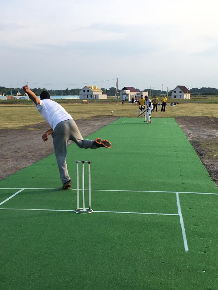 Cricket tournament in Kaharlyk