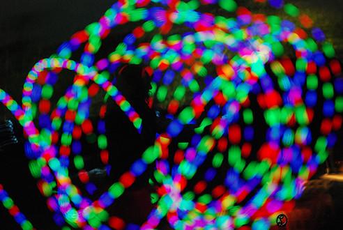 Falls festival - light twirls