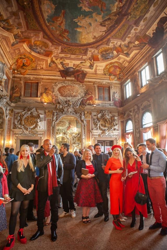 The magnificent Palazzo Zenobio ballroom