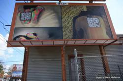 QR coded billboard
