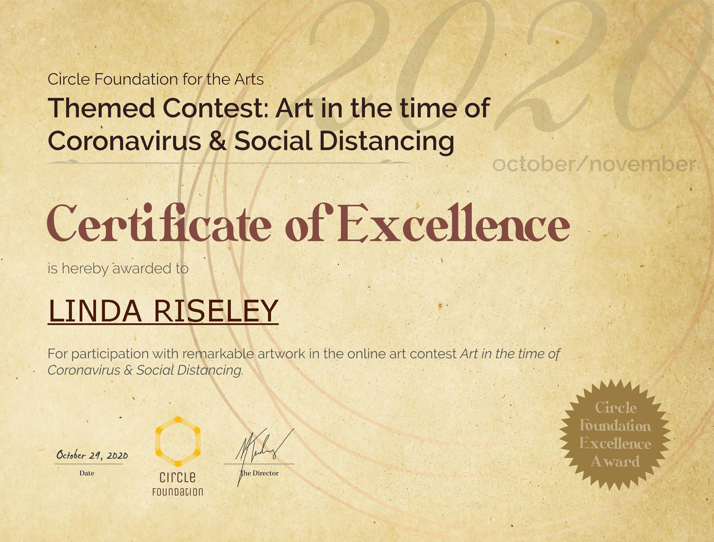 CFA Contest Excellence Award