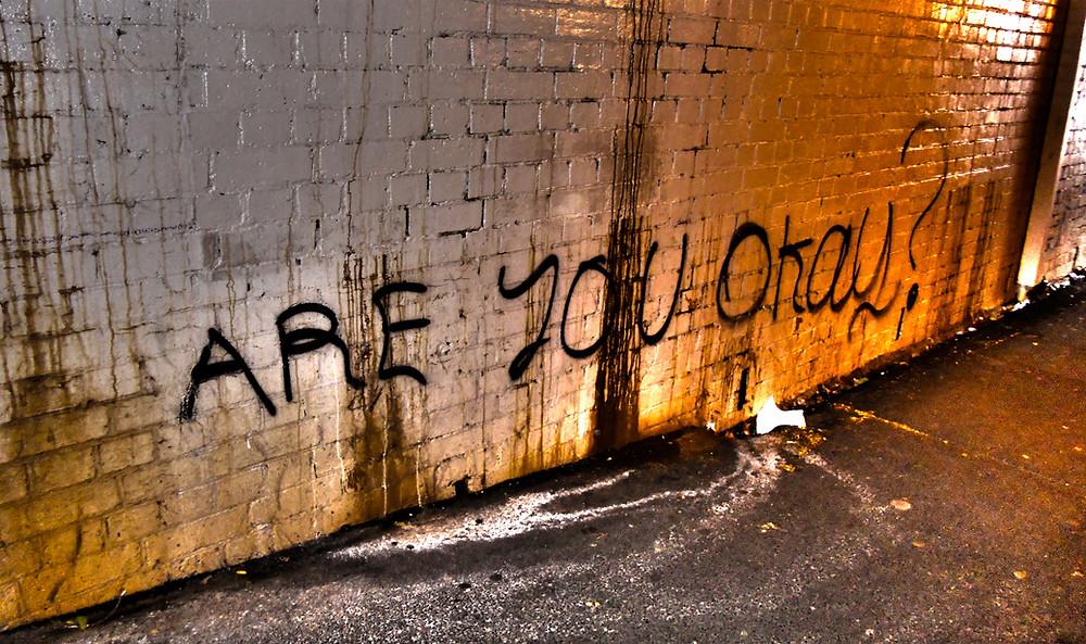 Are you ok written in graffiti