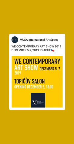 December 2019  my art was part of  MUSE I
