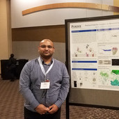 Ravi with his poster @ ACA 2019