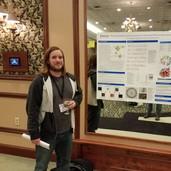 Bob presenting his poster @ the 2019 dept retreat