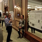 Claire discussing her research @ the 2019 dept retreat