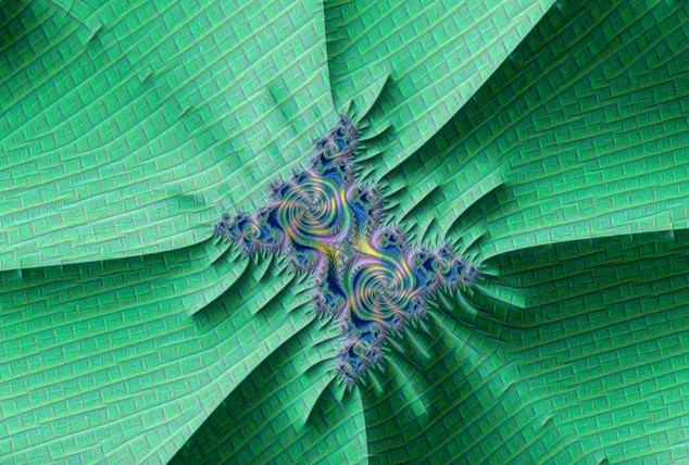 Mzr3bjmDD - Zoom Mandelbrot texturé par Inception.