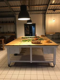 Our cooking table