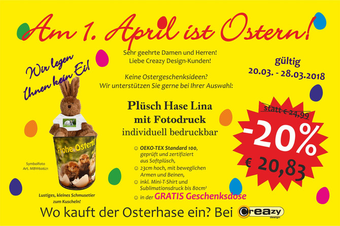 Am 1. April ist Ostern!