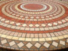 Table Mosaique Piètement Fer Forgé