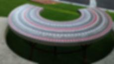 Table jardin mosaique béton ciment sur mesure haut de gamme haut de gamme