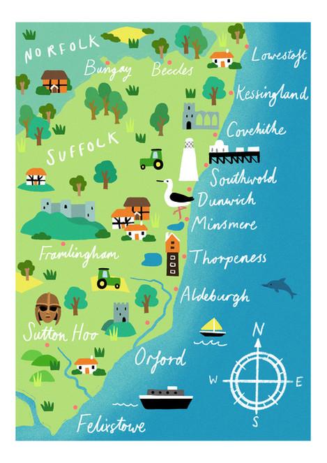 Suffolk Map