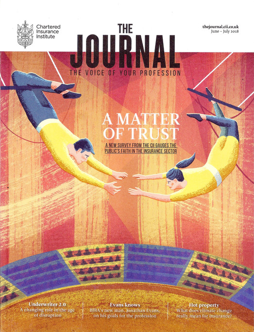 Chartered Insurance Institute Journal - Illustrated Magazine Cover