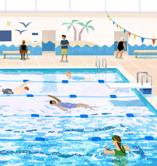 At the Swimming Pool - Illustrated Book