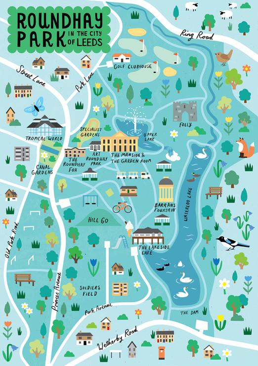 Roundhay Park Map