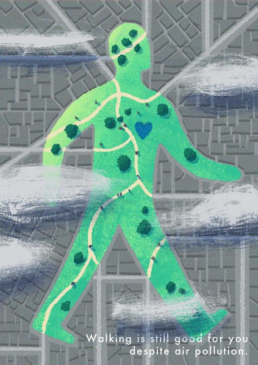 Walking - Editorial Illustration