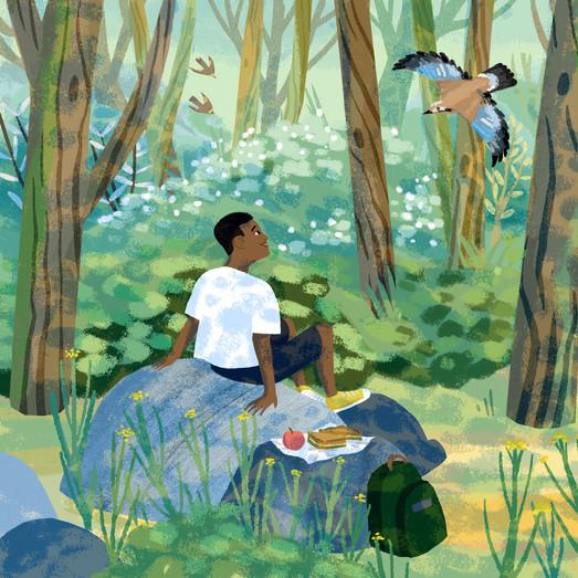 Prayer is an Adventure - Book Illustration
