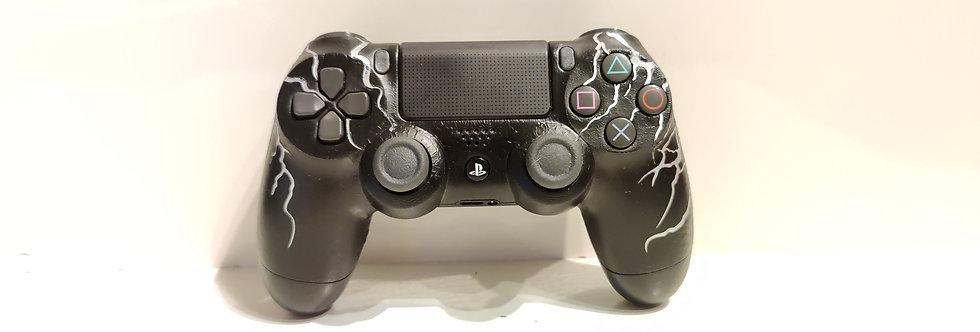 PS4 Dualshock Joypad Wireless Controller, Gebraucht Blitze silber Design