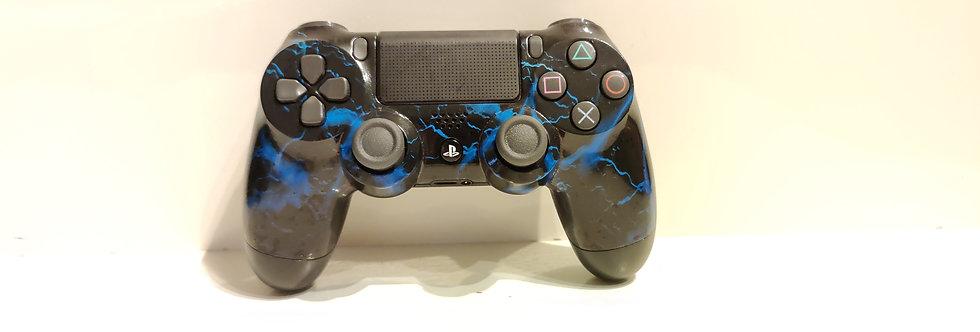 PS4 Dualshock Joypad Wireless Controller, Gebraucht Blitze blau Design