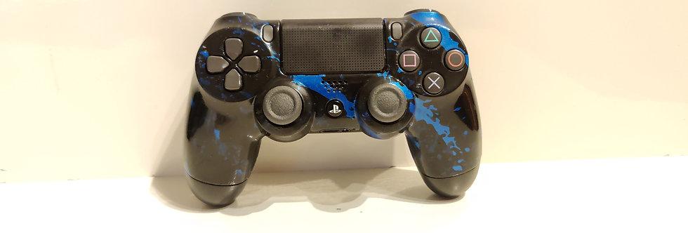 PS4 Dualshock Joypad Wireless Controller, Gebraucht camo blauDesign