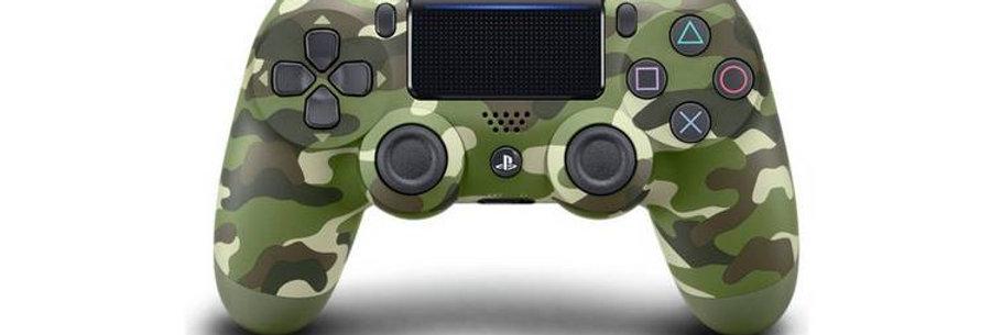 PS4 Dualshock Joypad Wireless Controller, Farbe: Camoflage Green, Gebraucht