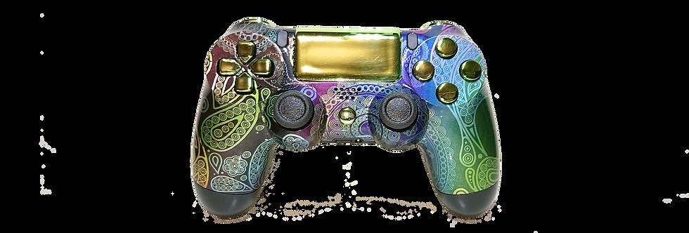 PS4 Custom Controller Pro 2.0 - Purpel Vintage Skull elite für Sony Playstation4