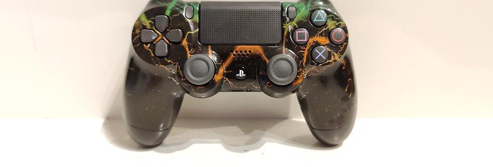 PS4 Dualshock Joypad Wireless Controller, Gebraucht Blitze grün Design