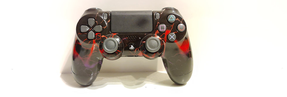 PS4 Dualshock Joypad Wireless Controller, Gebraucht Blize rot Design